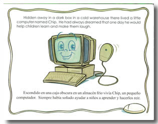 A picture from Chip, the Little Computer, an award-winning children's picture book by author Dr. Hope.